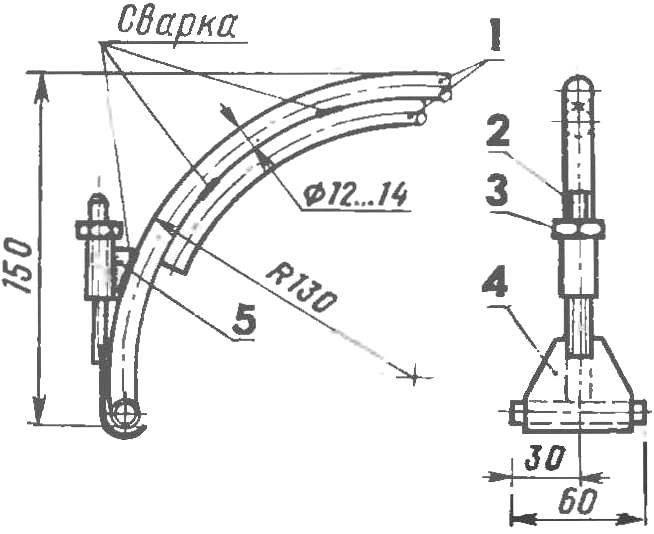 Р и с. 8 Опорный узел универсального багажника