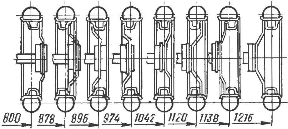 Приемы изменения ширины колеи перестановкой элементов колеса