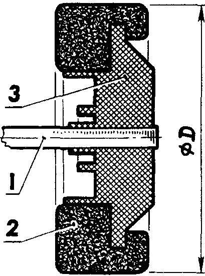 Рис. 3. Готовое колесо для трассовой автомодели