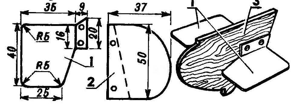 Рули глубины модели подводной лодки и их монтаж на модели