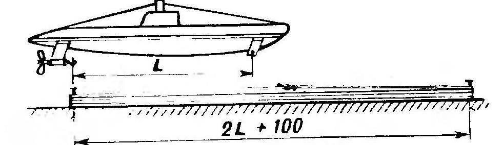 Изготовление резиномотора (на модели сложить вдвое)