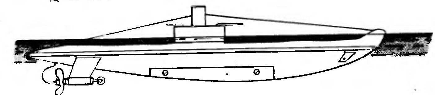 Отладка погружения модели подводной лодки