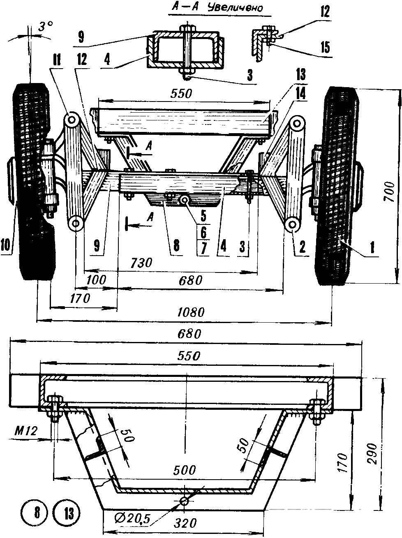 Передний мост (схематичное изображение)