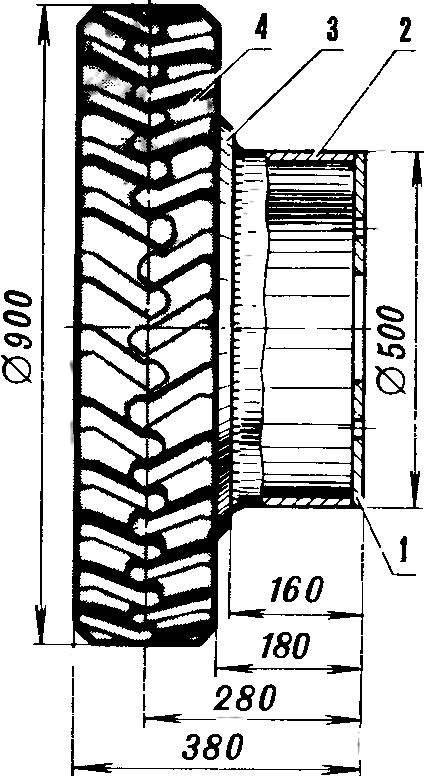 Съемное заднее правое колесо со ступицей