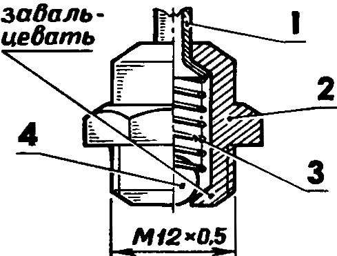 Паровой клапан, монтируемый в головке двигателя