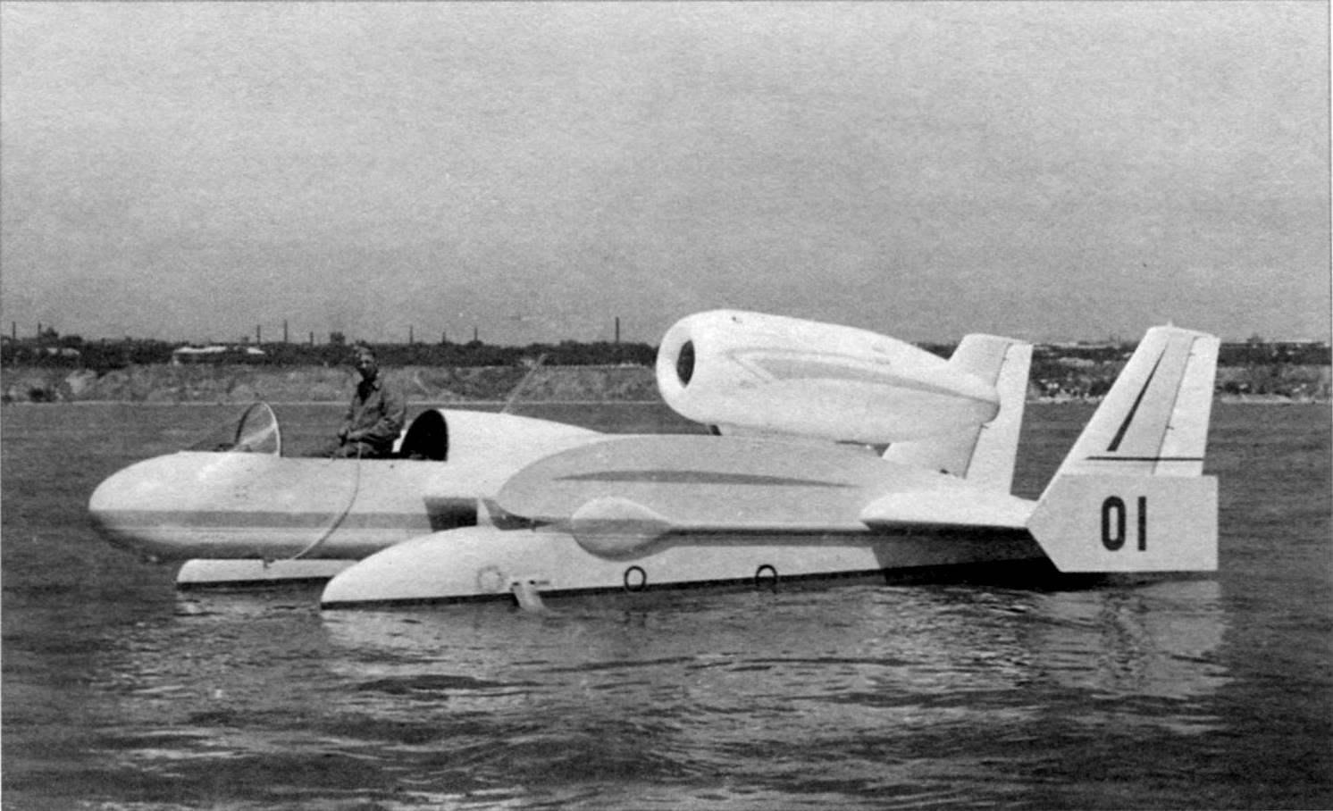 Бе-1 на плаву