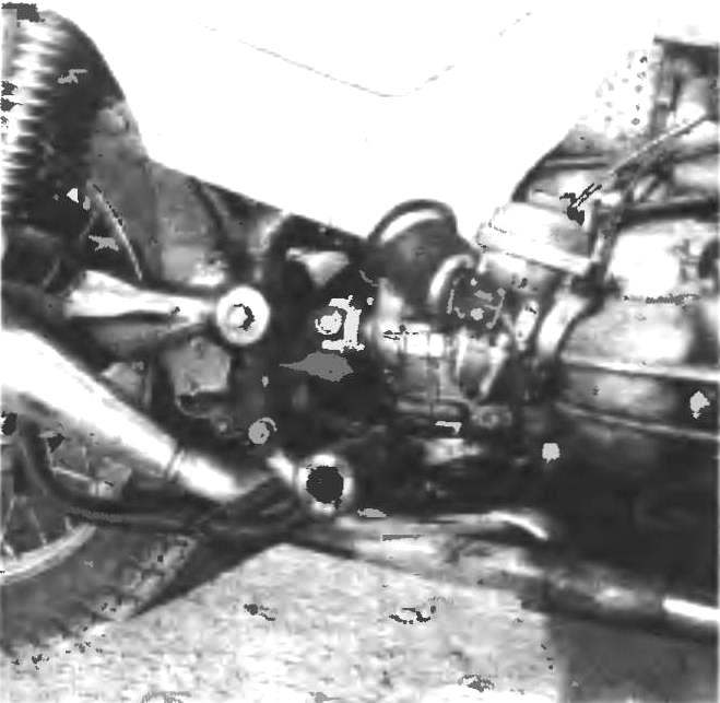 Фото 4. Задняя часть мотоцикла.