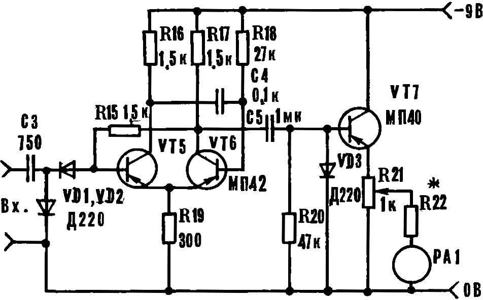 Рис. 5. Принципиальная схема частотомера.