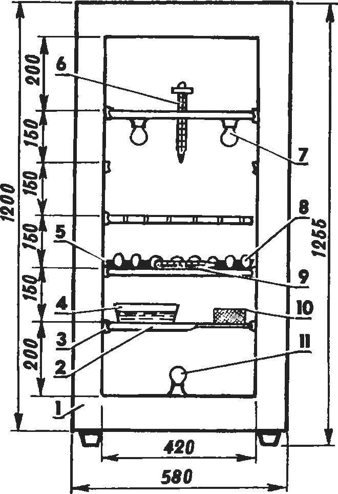 Рис. 1. Переоборудованный холодильник «Юрюзань»