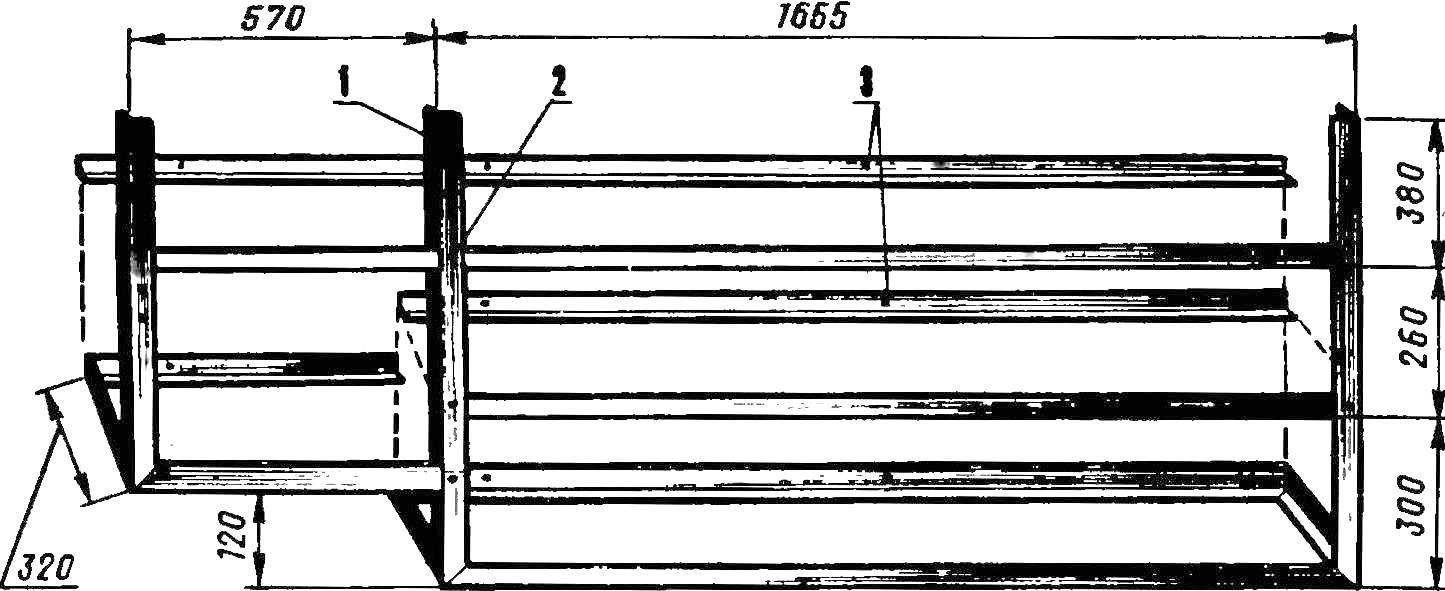 Рис. 2. Каркас настенного кухонного шкафа