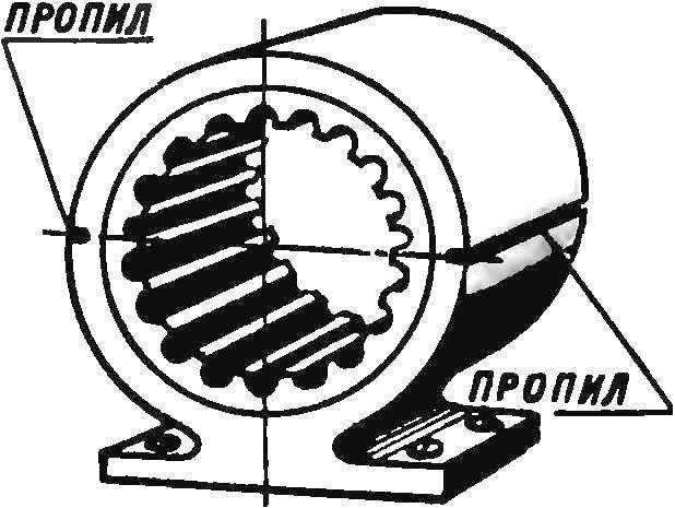 Рис. 2. Подготовительные операции для извлечения статора из корпуса электродвигателя.