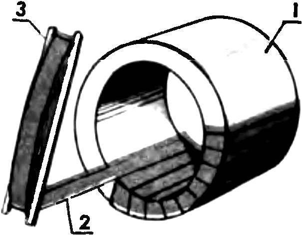 Рис. 3. Обмотка статора хлопчатобумажной изолентой