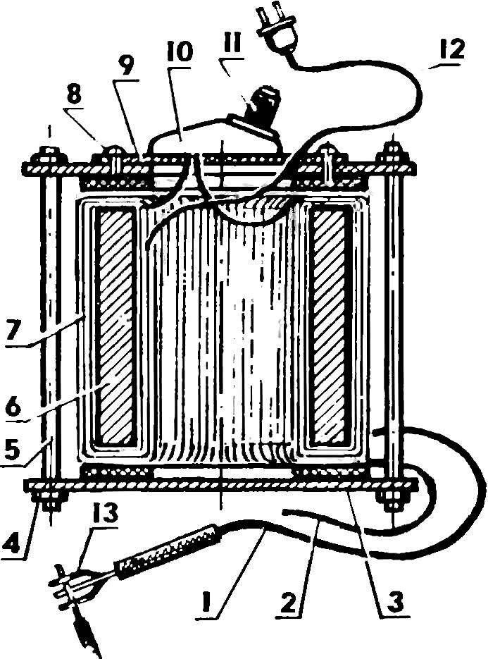 Рис. 7. Вариант конструкции сварочного трансформатора