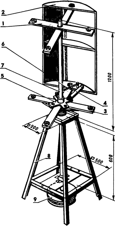 Рис. 3. Ветряной двигатель в сборе