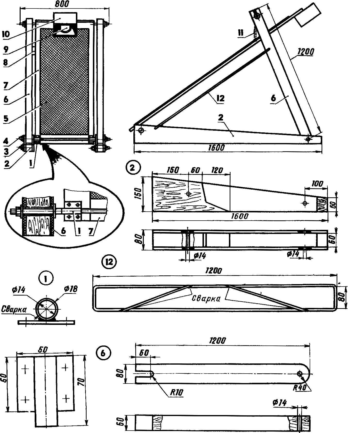 Рис. 1. Грохот — устройство для просеивания сыпучих материалов.