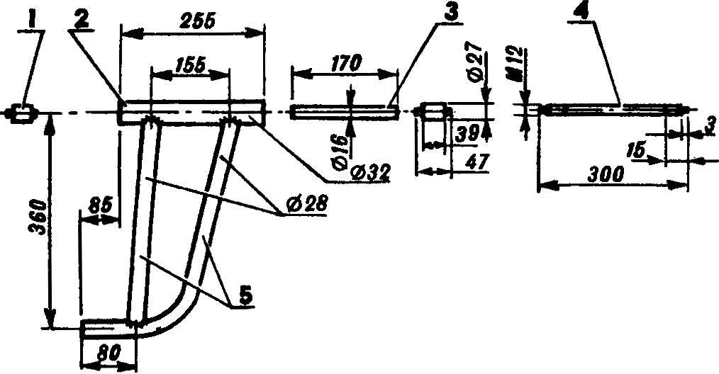 Рис. 3. Сборка рычага передней подвески