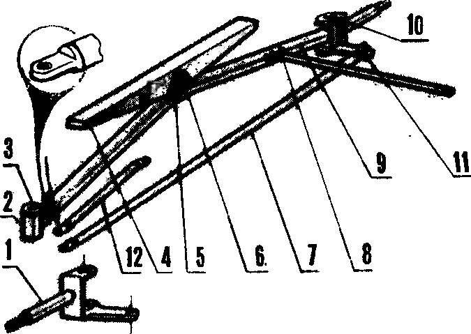 Рис. 3. Устройство переднего моста автомобиля