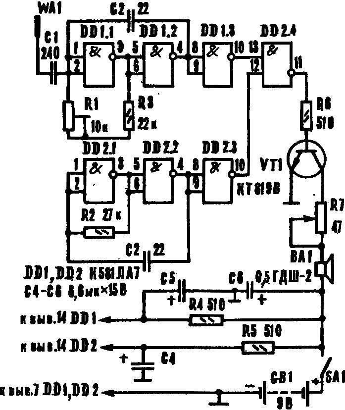Рис. 2. Принципиальная схема ЭМИ.
