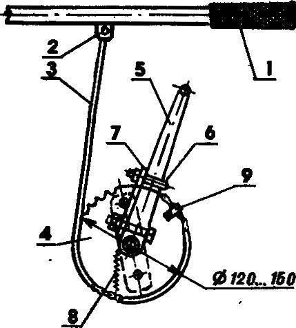 Рис. 5. Пусковое устройство со звездочкой.