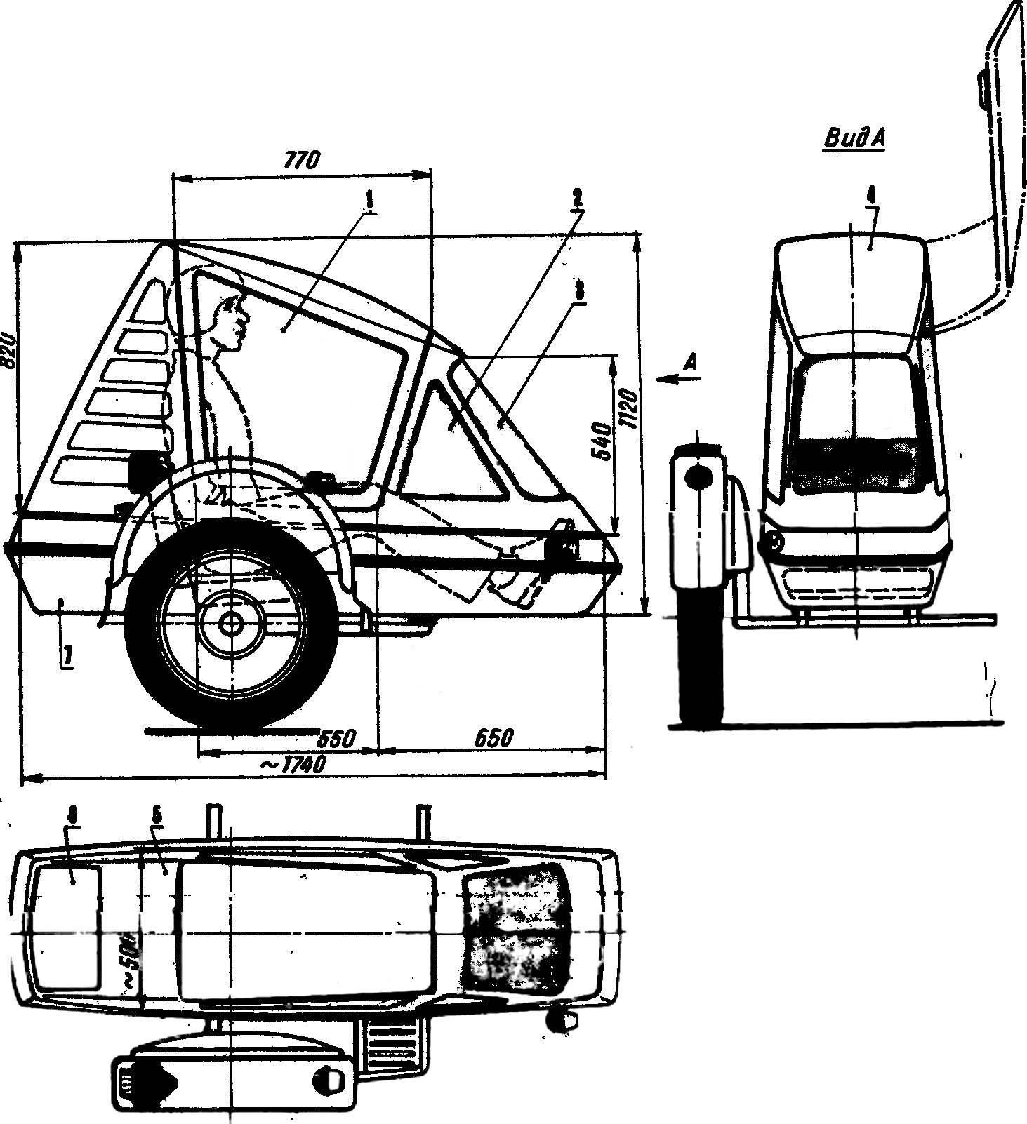 Пассажирская кабина-«лимузин» для бокового прицепа мотоцикла.