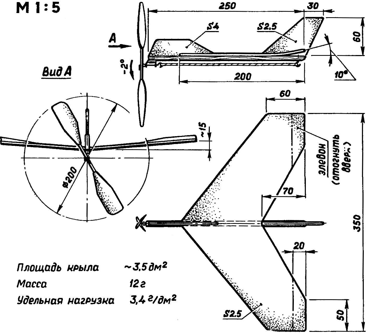 Малая модель «самолет-эксперимент».