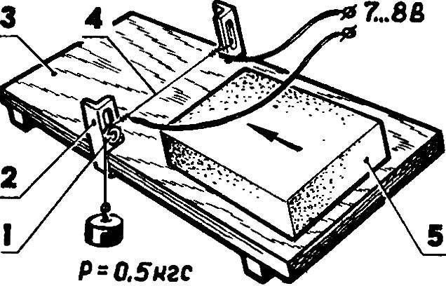 Приспособление дли терморезки пенопласта.