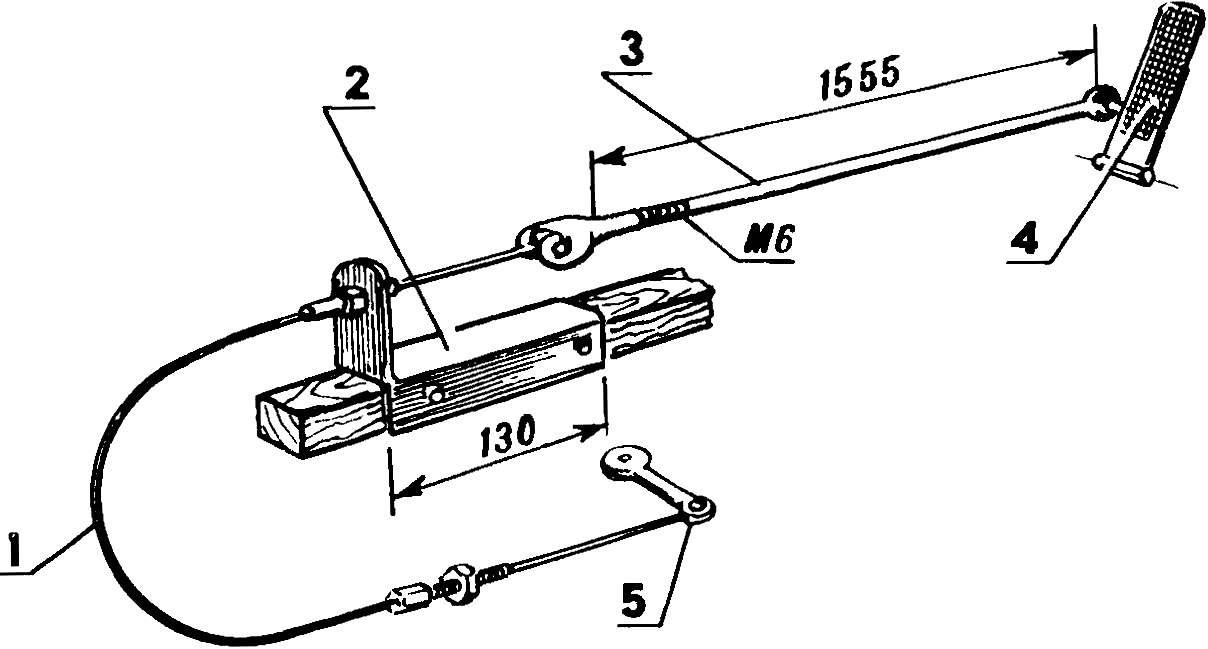 Рис. 7. Механизм управления сцеплением.