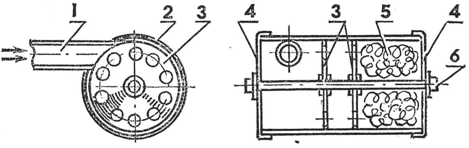 Diagram of the muffler
