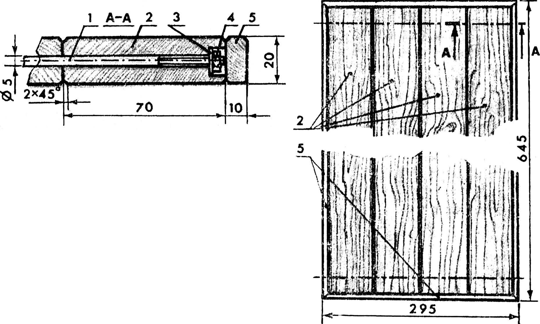 Конструкция универсальной дверцы для кухонного гарнитура.