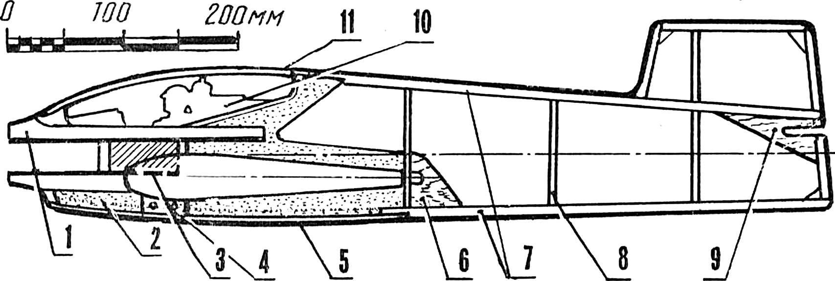 Рис. 5. Фюзеляж модели.