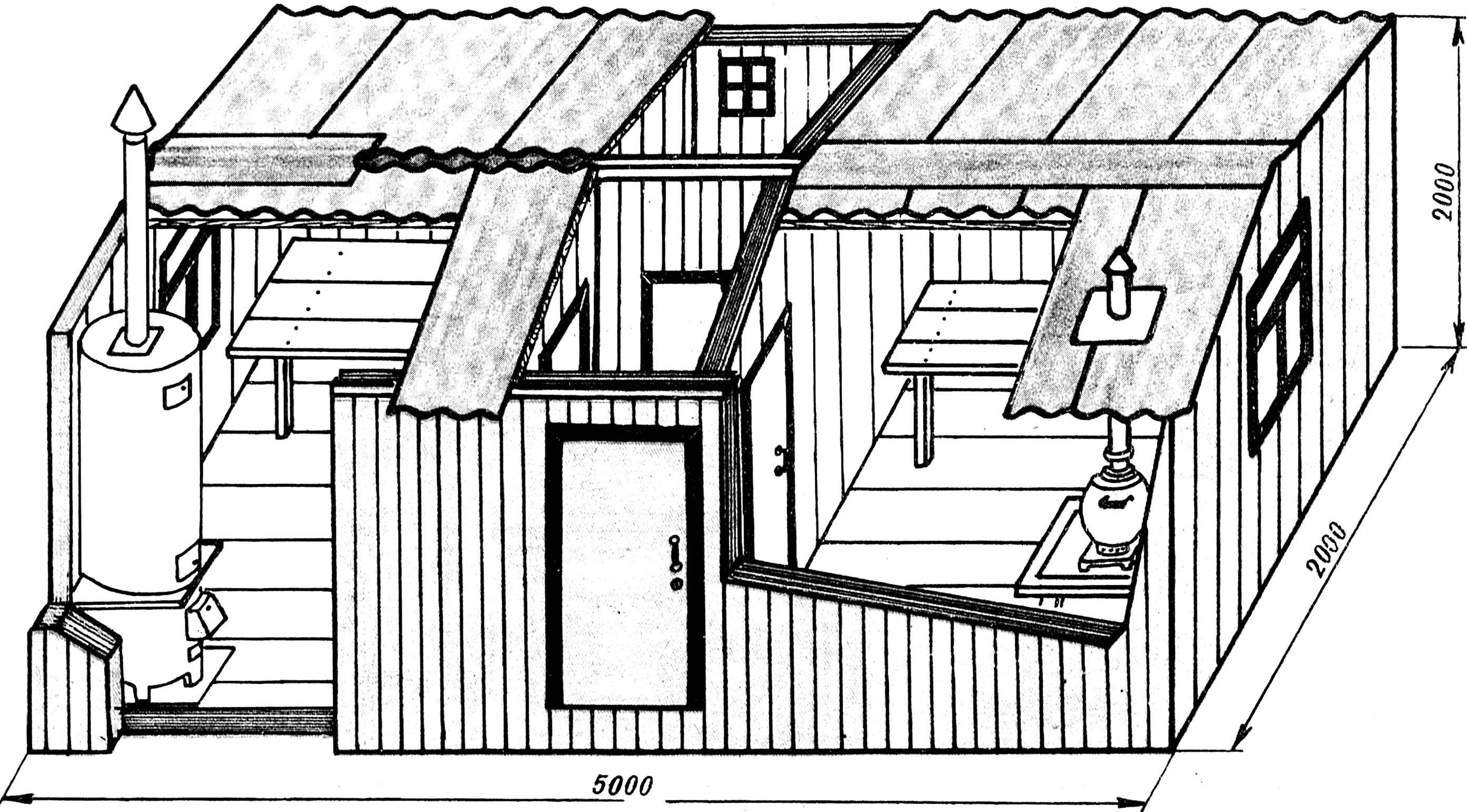 Баня конструкции И. Ф. Пляскина