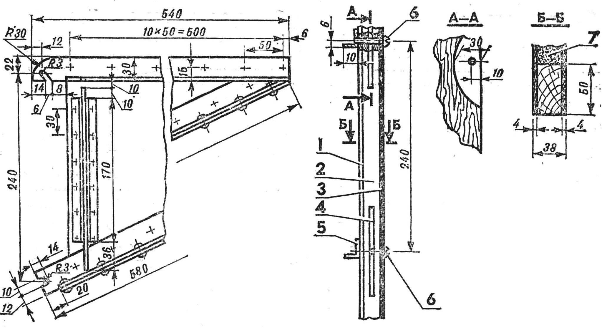 Рис. 5. Бокевая панель колонны