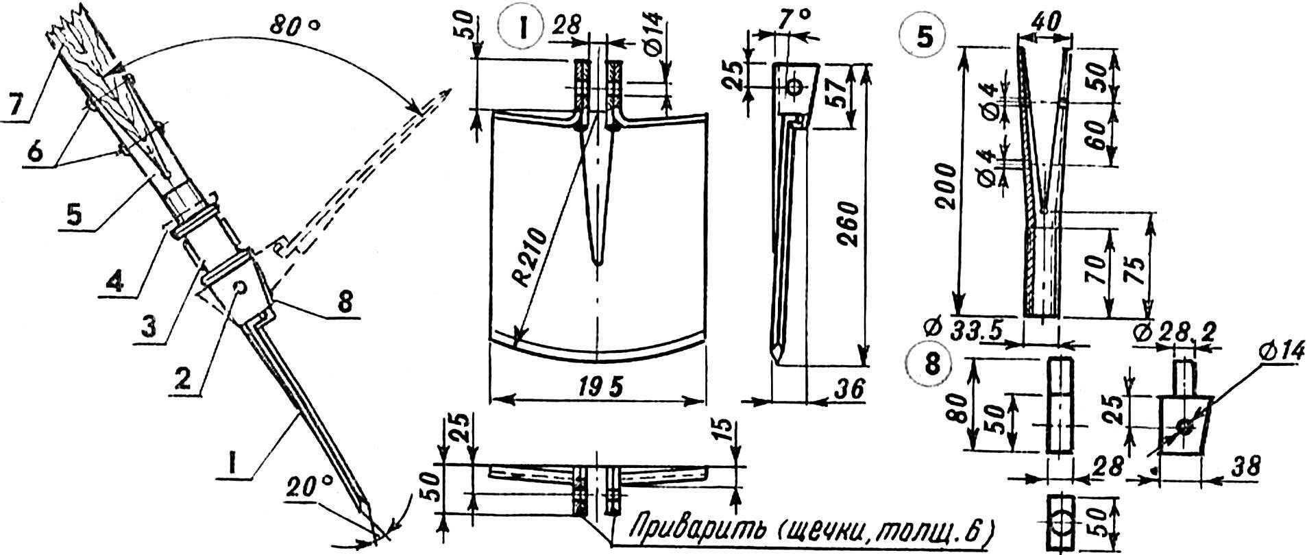 Fig. 1. Shovel-hoe.