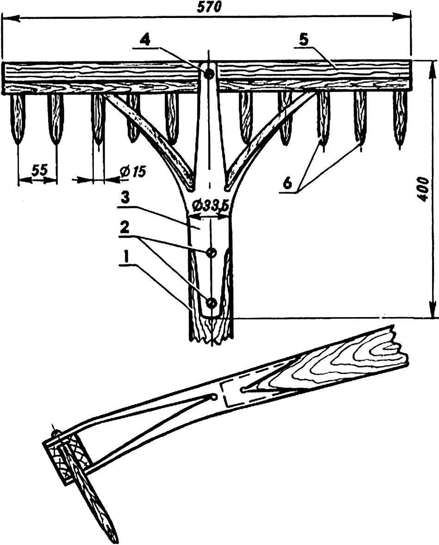 Fig. 3. Rake with tubular mount.