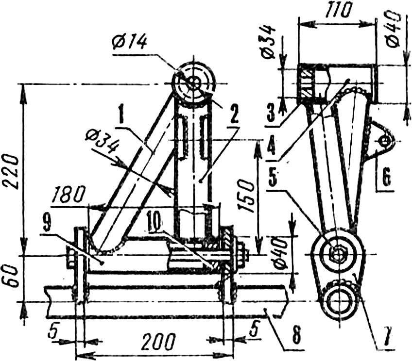 Рис. 3. Рычаг подвески переднего колеса.