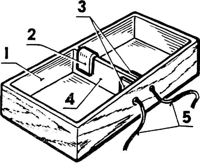 Рис. 3. Коробка для батарей питания двигателя.