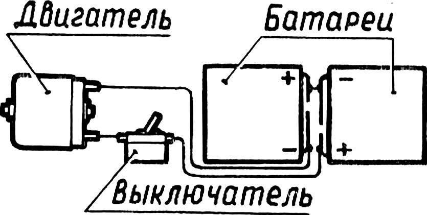 Рис. 4. Схема питания ходового электродвигателя.