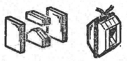 Рис. 1. Изготовление блока для модели парусника