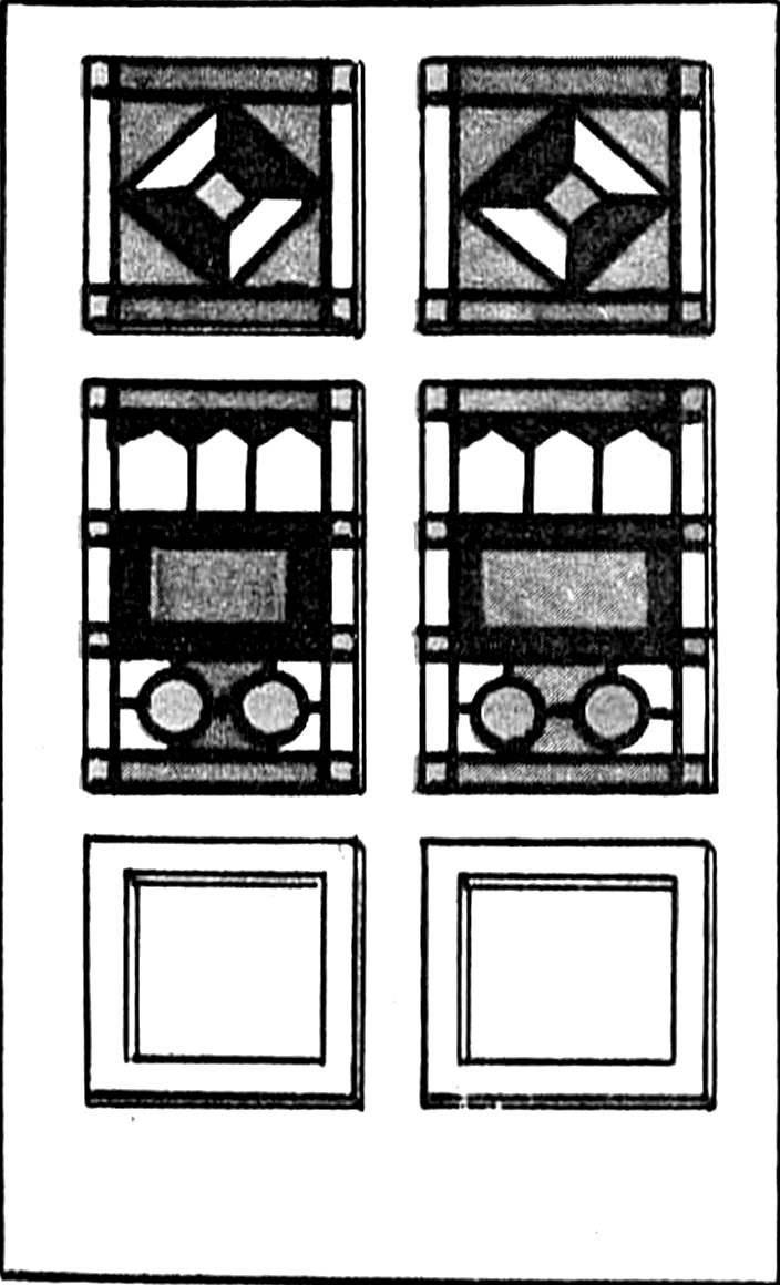 Рис. 1. Филенчатая дверь с остеклением в виде витража.