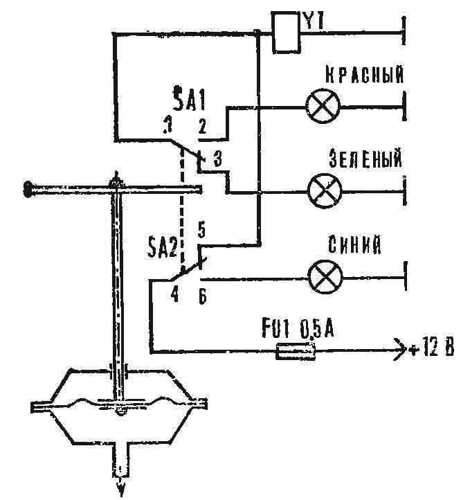 Рис. 2. Электрическая схема подсоединения системы