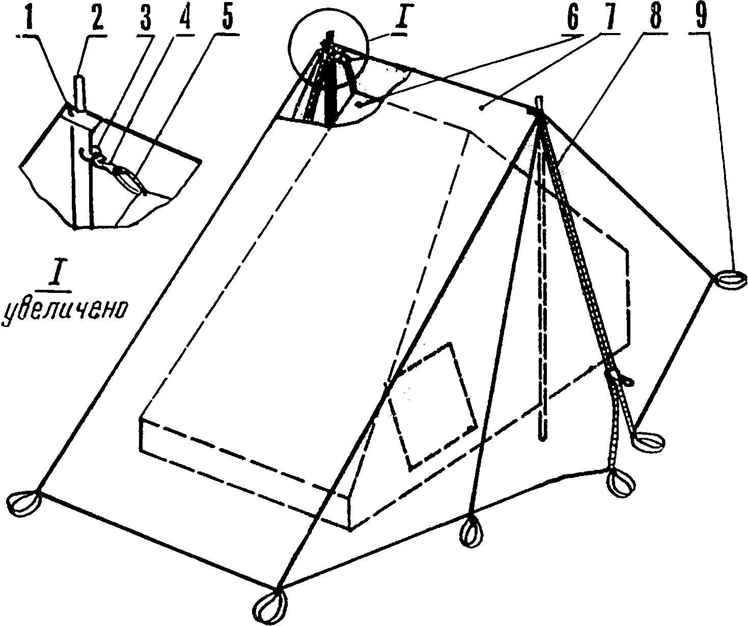 Рис. 1. Палатка/