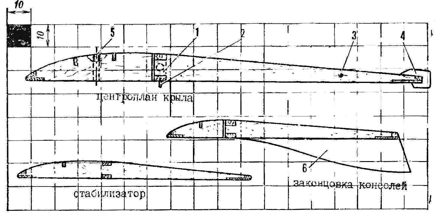 Fig. 3. Typical cross-section planes (to be used when rendering templates of the ribs)