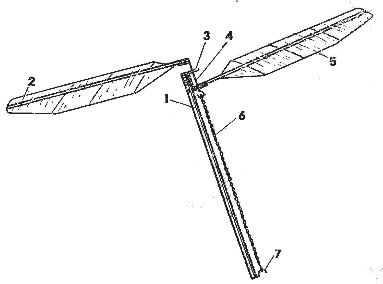 Простейшая модель махолета с резииомотором