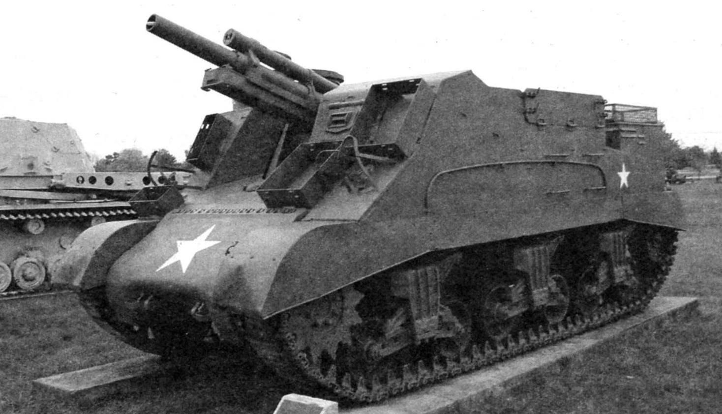 САУ «Прист» в экспозиции Музея вооружений армии США. Абердинский испытательный полигон. Штат Мэриленд, США