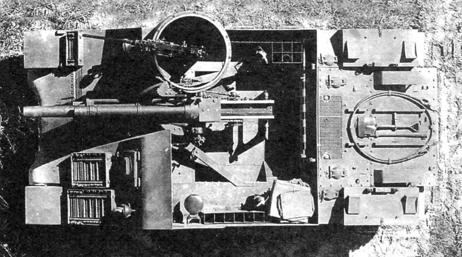 САУ М7. Вид сверху