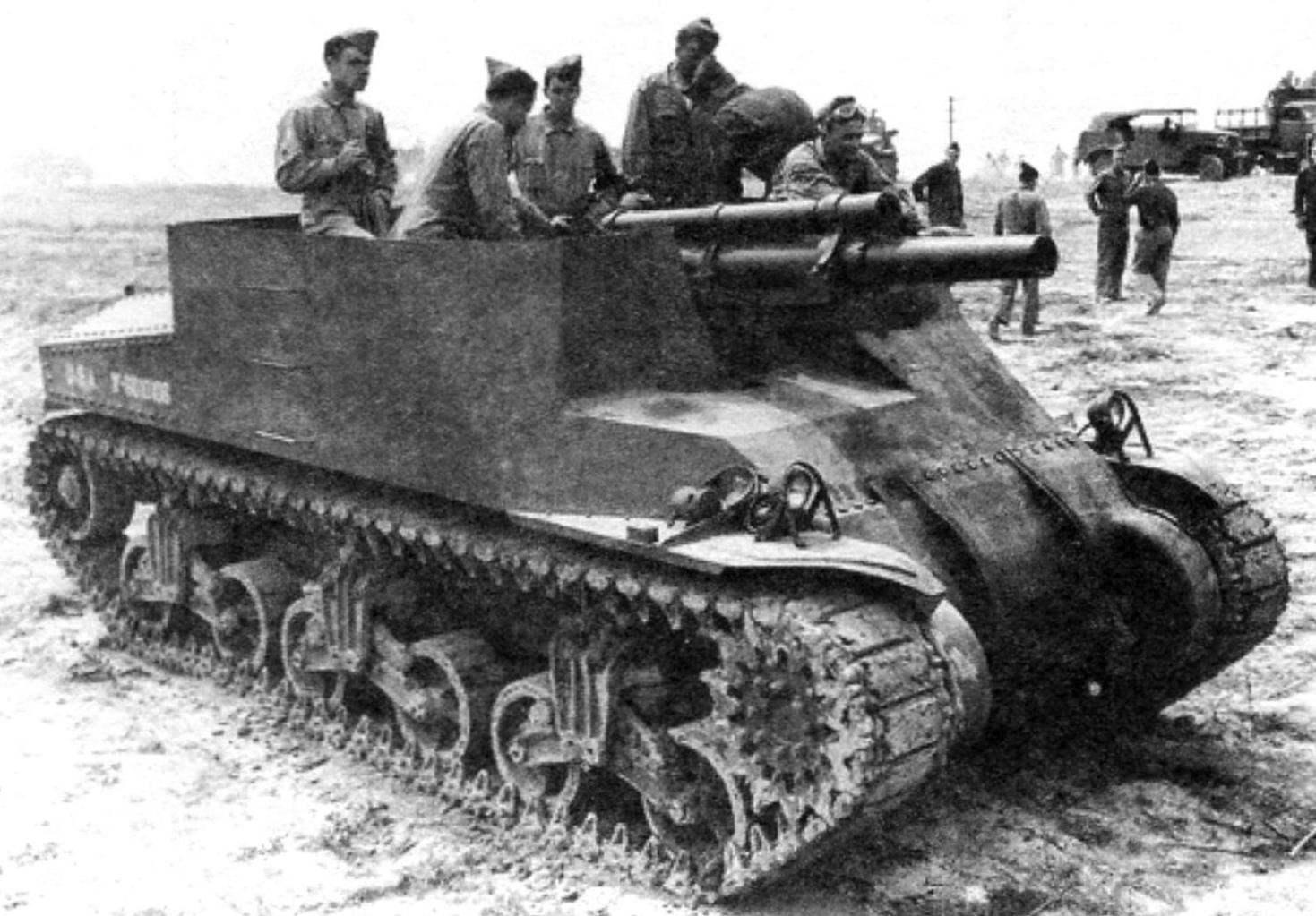 САУ «Прист» на испытаниях в Форт Нокс. Февраль 1942 г.