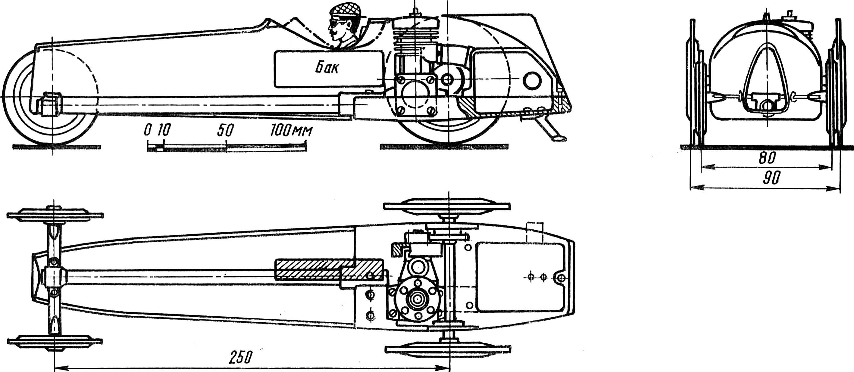 Рис. 3. Модель класса Е-5 на первой стадии проектирования.