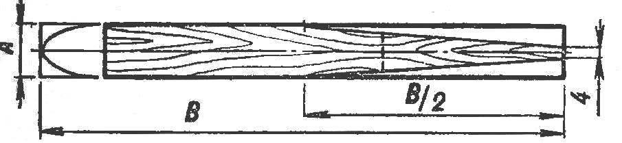 Рис. 4. Схема разметки нервюр и обработки кромки-лонжерона