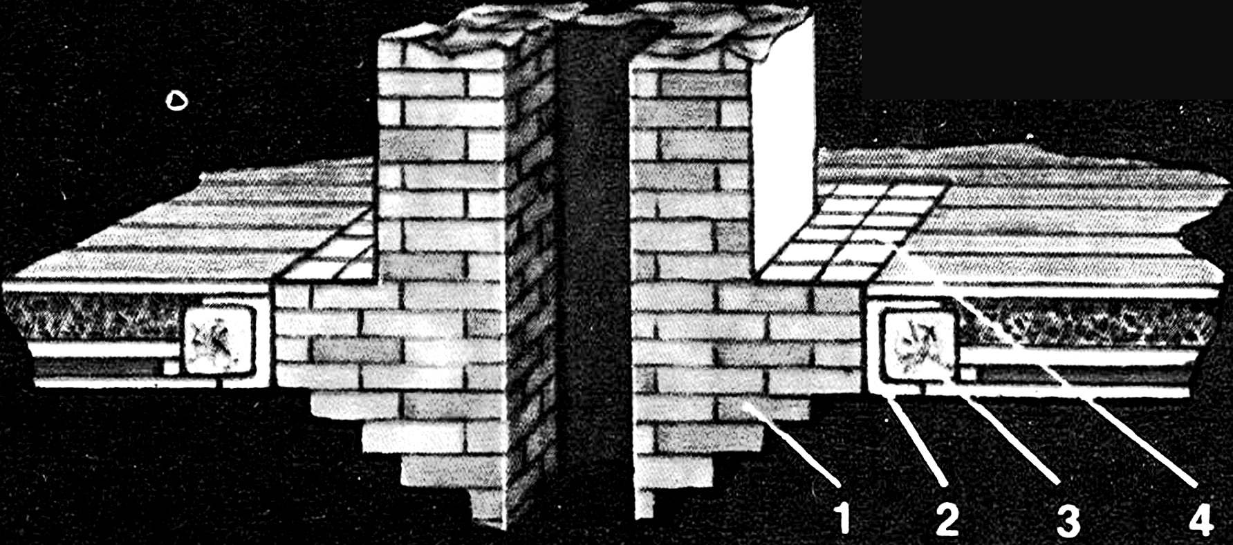 Pass the chimney through interfloor overlap.