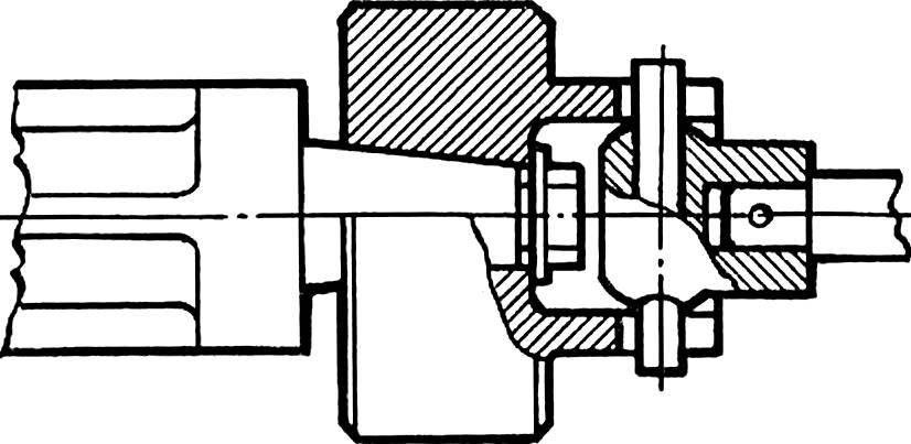 Рис. 5. Сочленение двигателя с маховиком и с редуктором.